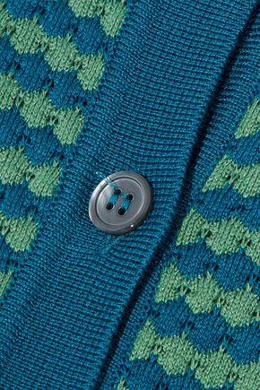 MARNI Striped crochet-knit cotton cardigan