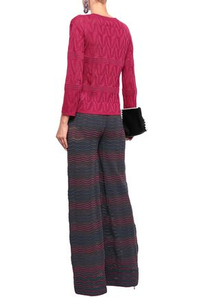 M MISSONI Pointelle-knit wool-blend top
