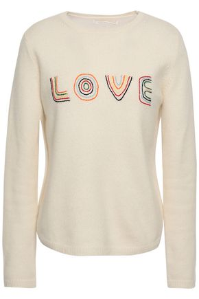 CHINTI AND PARKER Embroidered wool and cashmere-blend sweater