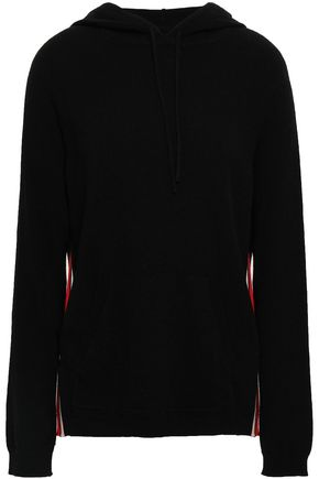 CHINTI AND PARKER Embroidered wool and cashmere-blend hooded sweater