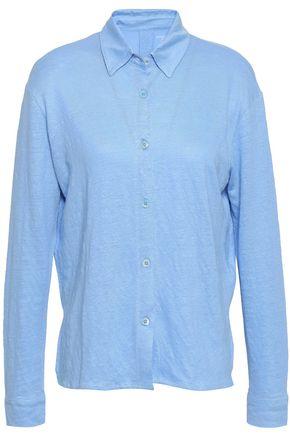 MAJESTIC FILATURES Stretch-linen jersey shirt