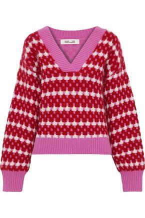 DIANE VON FURSTENBERG Ribbed jacquard-knit sweater