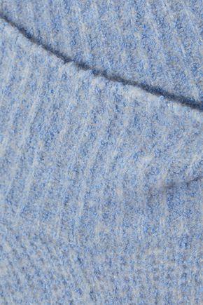 DIANE VON FURSTENBERG Cropped mélange knitted turtleneck sweater