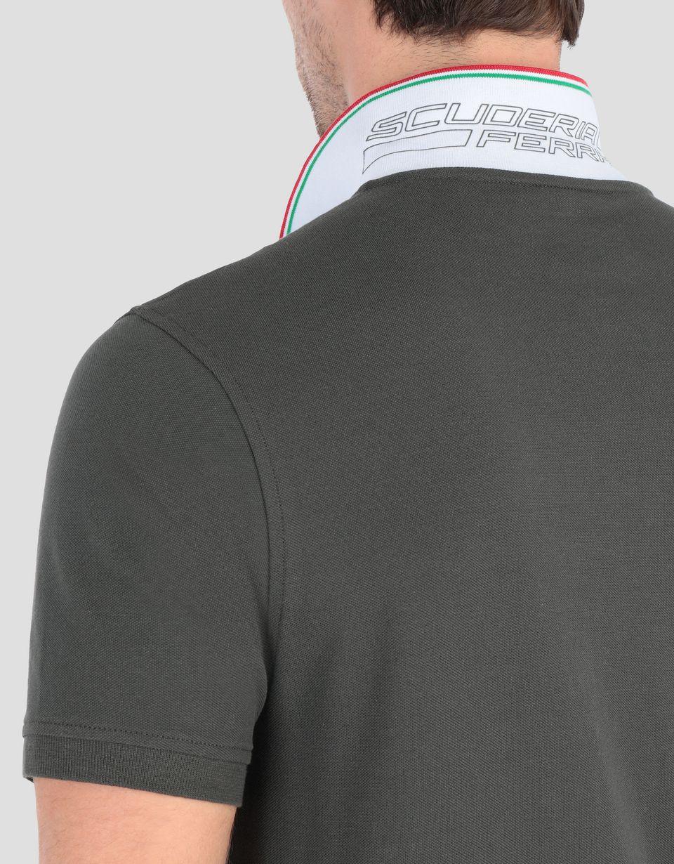 Scuderia Ferrari Online Store - 男士珠地棉质 POLO 衫 - 短袖 Polo 衫