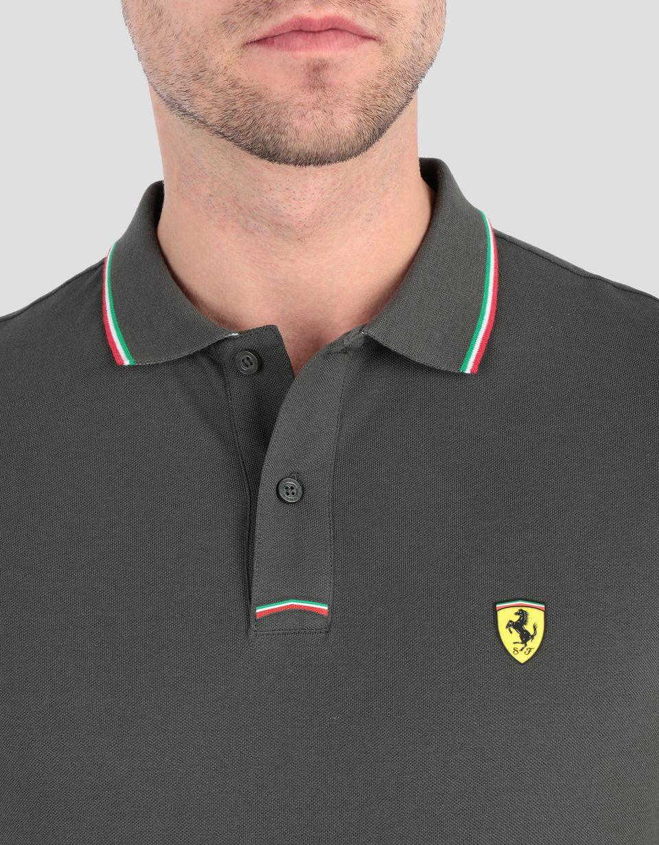 Scuderia Ferrari Online Store - Polo de piqué de algodón de hombre - Polos de manga corta