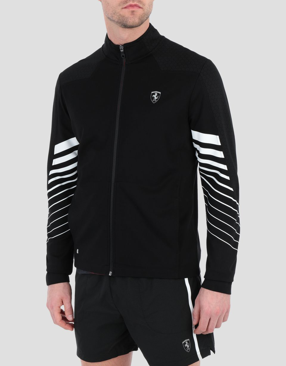 Scuderia Ferrari Online Store - Men's running top with zip - Zip Jumpers
