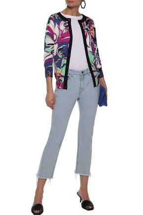c13dcf471c72 EMILIO PUCCI Printed silk and cashmere-blend cardigan