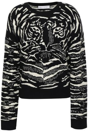 ROBERT RODRIGUEZ Intarsia wool and cashmere-blend sweater
