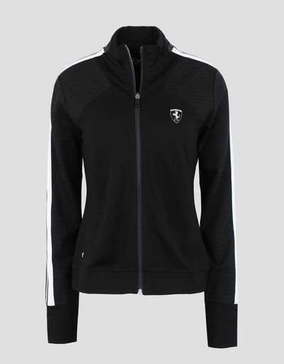 Scuderia Ferrari Online Store - Women's full zipper running jacket - Zip Sweaters