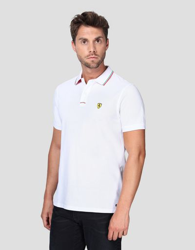 Men's piqué cotton polo shirt