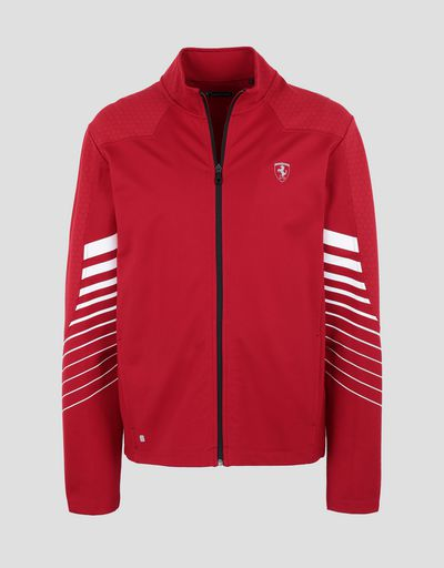 Scuderia Ferrari Online Store - Men's running top with zip - Zip Sweaters