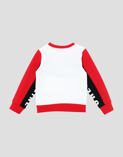 Scuderia Ferrari Online Store - Sweatshirt for young children in French Terry with print - Crew Neck Jumpers