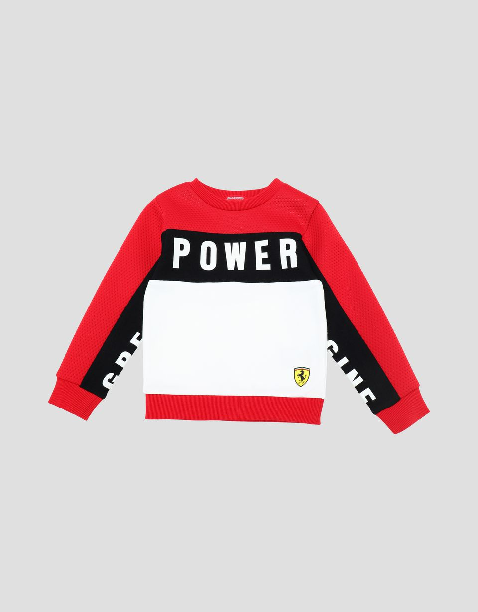 Scuderia Ferrari Online Store - Sweatshirt for young children in French Terry with print - Crew Neck Sweaters