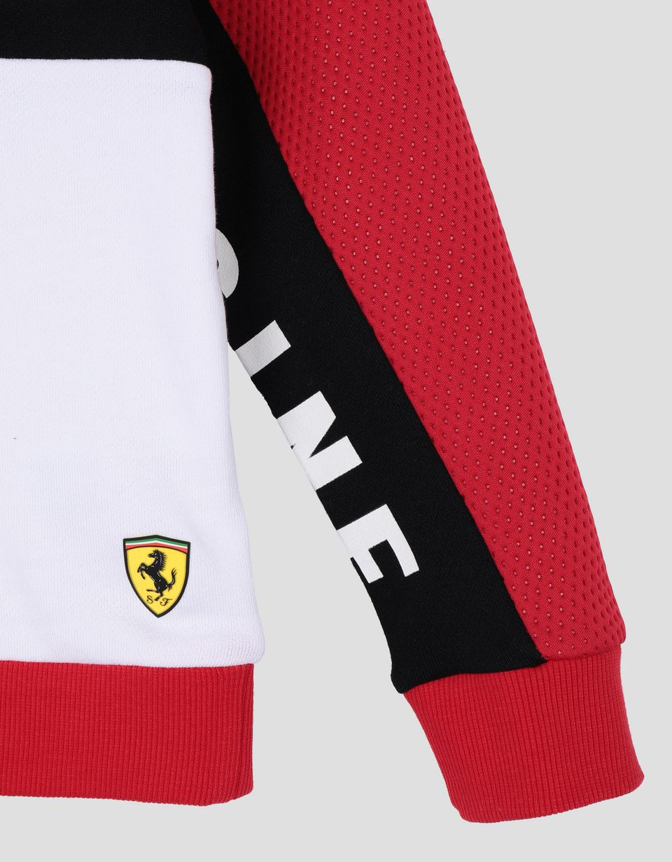 Scuderia Ferrari Online Store - Boy's sweatshirt in French Terry with print - Crew Neck Sweaters