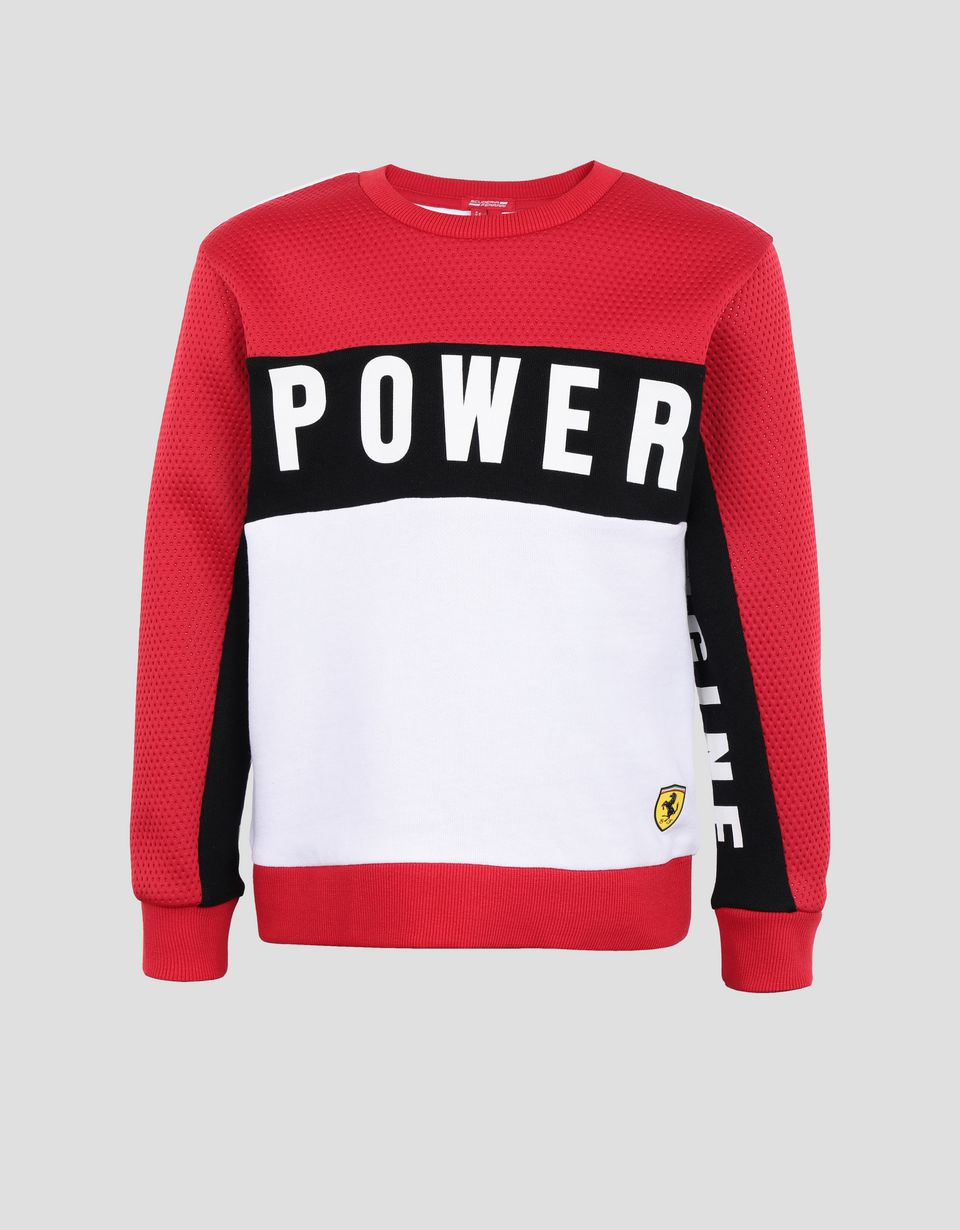 Scuderia Ferrari Online Store - Boy's sweatshirt in French Terry with print - Crew Neck Jumpers