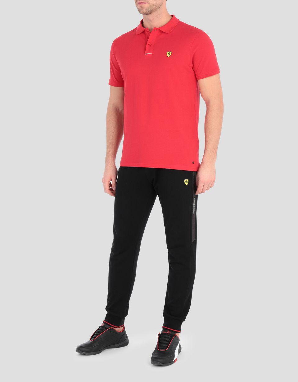 Scuderia Ferrari Online Store - 左胸盾形徽标女士珠地棉质 POLO 衫 - 短袖 Polo 衫