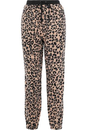 DKNY Leopard-print fleece pajama pants