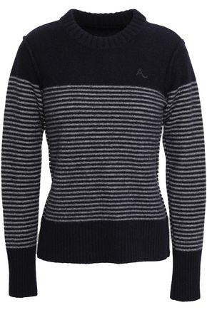 ALEXACHUNG ストライプ ウール セーター