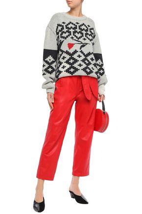 ALEXACHUNG Intarsia cotton sweater