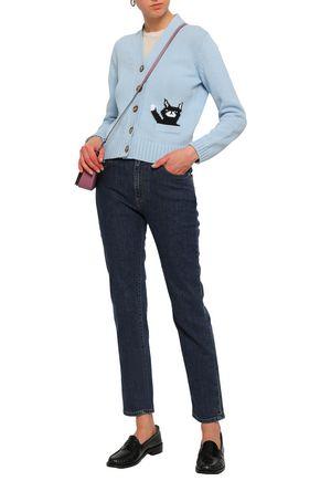 ALEXACHUNG Intarsia cotton cardigan