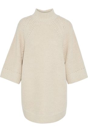 ALICE + OLIVIA Herma oversized knitted turtleneck sweater
