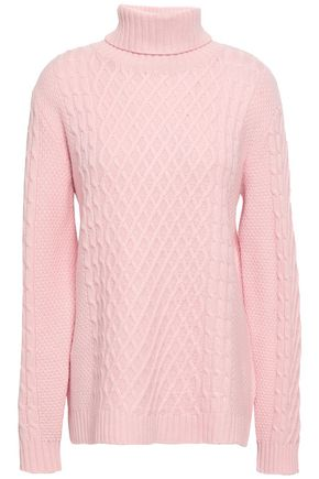 CHINTI AND PARKER Cable-knit wool and cashmere-blend turtleneck sweater