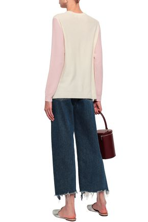 CHINTI AND PARKER Two-tone wool and cashmere-blend sweater