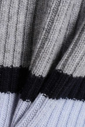 CHINTI AND PARKER Striped ribbed wool and cashmere-blend sweater