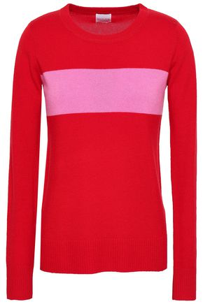 MADELEINE THOMPSON Intarsia-knit wool and cashmere-blend sweater