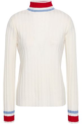 MADELEINE THOMPSON Ribbed wool and cashmere-blend sweater