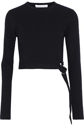 ROBERT RODRIGUEZ Cropped belted wool-blend sweater