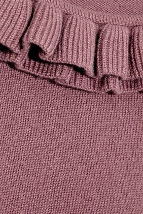 GOAT Ruffle-trimmed cashmere sweater