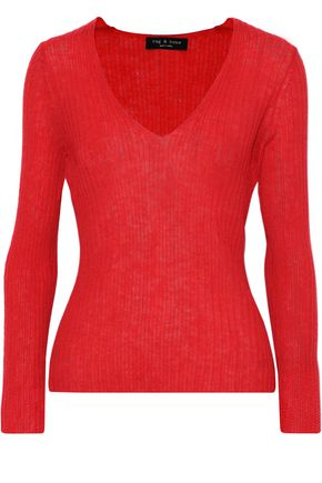RAG & BONE Donna ribbed mohair-blend sweater