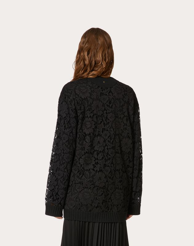 WOOL AND HEAVY LACE CARDIGAN