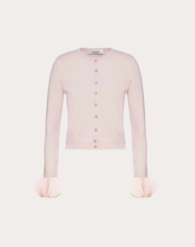 Mini Embroidered Cashmere Wool Cardigan