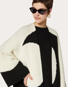Oversize Wool Inlay Cardigan