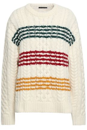 RAG & BONE Striped cable-knit wool-blend
