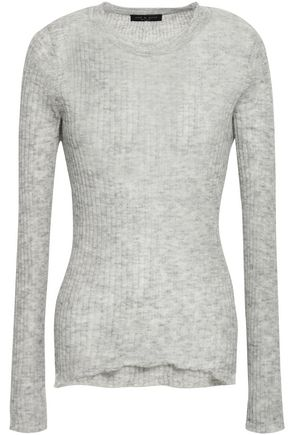 RAG & BONE Ribbed mélange ribbed mohair-blend sweater