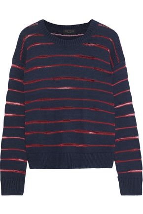 RAG & BONE Penn striped open-knit sweater