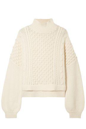 FRAME Nubby wool-blend turtleneck sweater