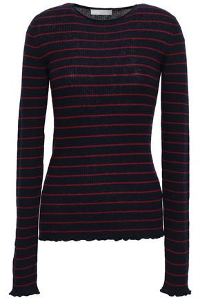 d17ccfd1d45 VINCE. Striped ribbed cashmere sweater
