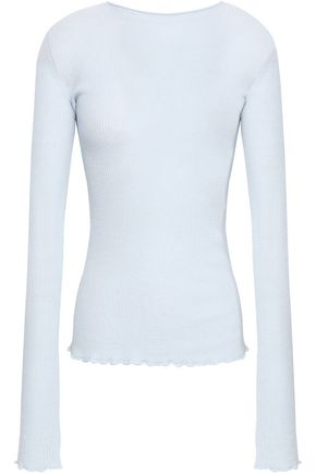 VINCE. Ribbed-knit cashmere top