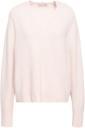 VINCE. Pointelle-trimmed cashmere sweater