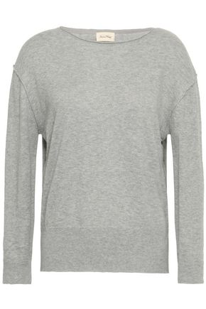 AMERICAN VINTAGE Brilliant Pebble mélange cotton and silk-blend sweater