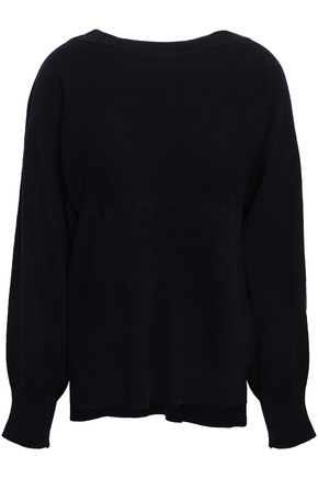 VINCE. Layered wool and cashmere-blend sweater