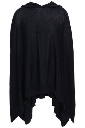 VINCE. Lace-up wool and cashmere-blend poncho