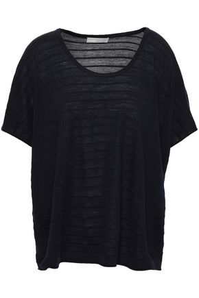VINCE. Jacquard-knit wool and cashmere-blend top