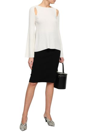 VINCE. Cutout ribbed-knit cashmere sweater