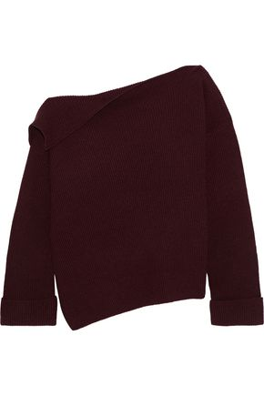 VINCE. One-shoulder cashmere sweater