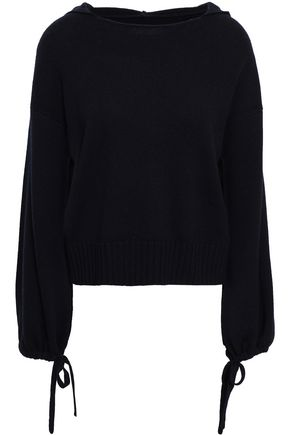 VINCE. Mélange wool and cashmere-blend hooded sweater